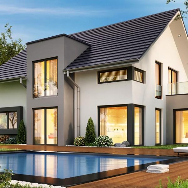 projekt domu jednorodzinnego z basenem